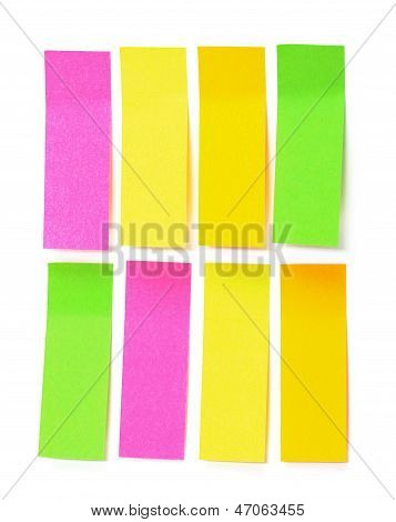 Set Of Multicolored Paper Sticky Stickers