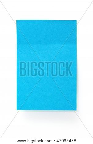 Blue Paper Sticky Stickers