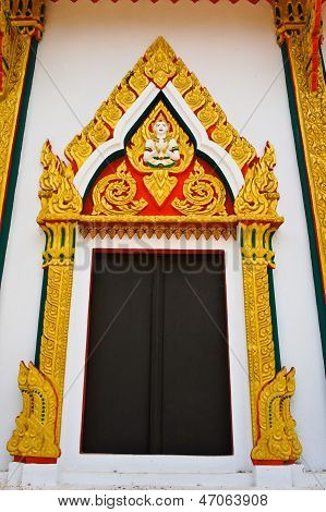 Thai temple window