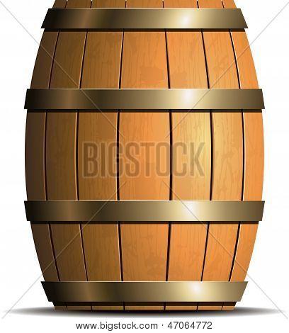 Wooden barrel vector