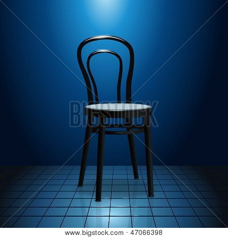 Vacant Chair On Stage