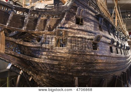 Ancient Ship Vasa In Stockholm, Sweden