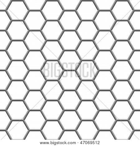 Grade hexagonal