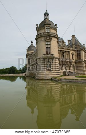 Castle Of Chantilly In France - Rear View