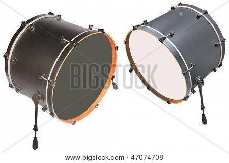 La imagen de un tambor bajo un fondo blanco