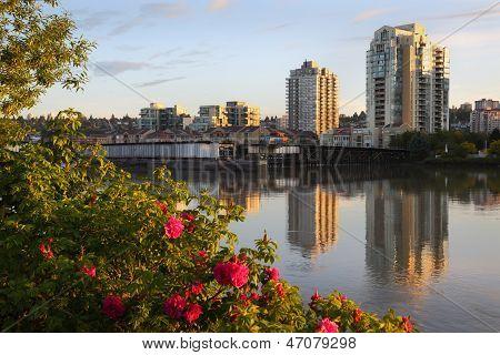 Fraser River, New Westminster Skyline, BC
