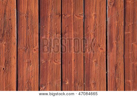 Red wooden wall.