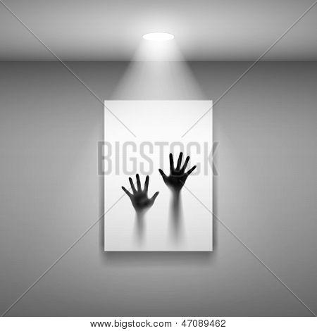 Zwei offene Hände auf Foto