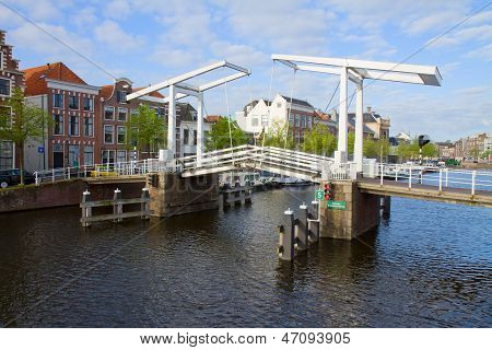 Gravestenebrug in old town of Haarlem