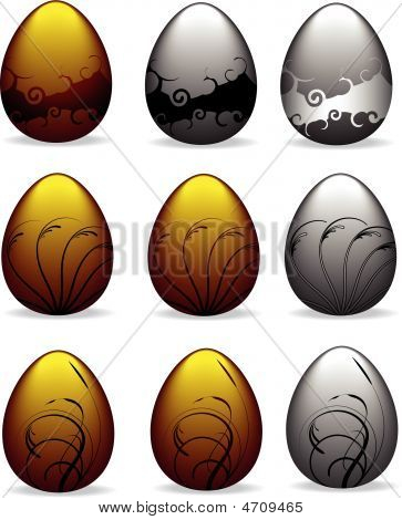 Gold And Silver Easter Eggs