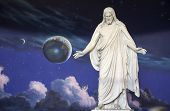 stock photo of reach the stars  - Statue of Jesus Christ is inside the North Visitors Center at Temple Square - JPG