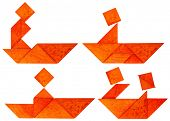 picture of tangram  - four abstract pictures of a fisherman - JPG