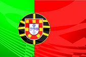 Flag Of Portugal Air Travel Illustration poster