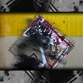 Постер, плакат: Металлические текстуры железа старый лейбл фон гранж материал изоляции