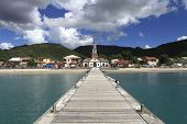 stock photo of west indies  - Village and church of Anses D - JPG