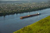 image of kama  - The barge on the Kama River, Russia