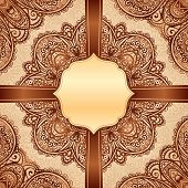 Ornate vintage vector napkin background