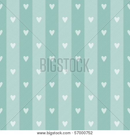 Retro Polka Hearth Seamless Background