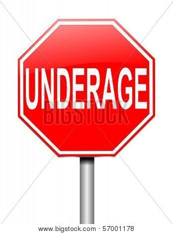Underage Concept.