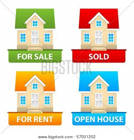 Buttons sale and rent of country houses