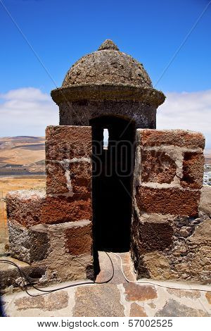 Lanzarote  Spain The Old Wall Castle  Sentry Tower And Door  I