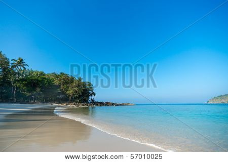 Untouched tropical beach
