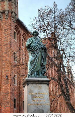 Nicolaus Copernicus monument. Torun, Poland