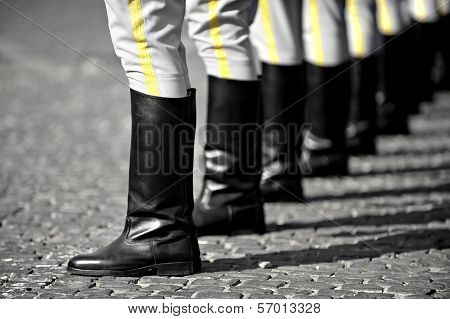 Military Boots Formation