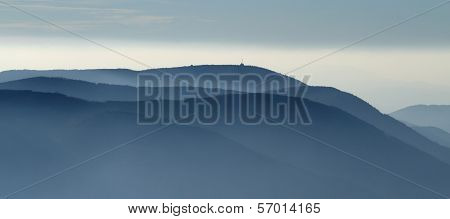 Blue Horizons of Beskydy Mountains