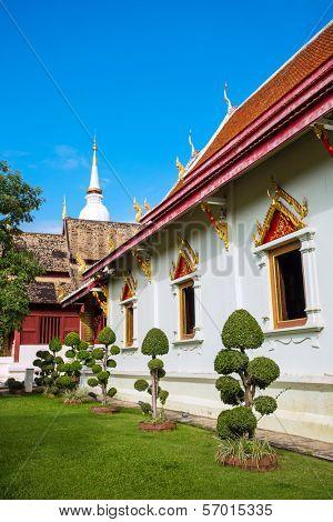 Wat Phra Singh Woramahaviharn temple in Chiang Mai, Thailand