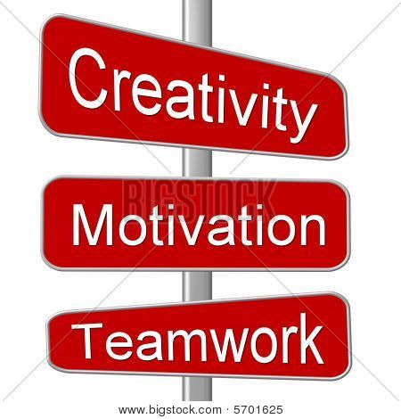 Business Motivation Sign Creativity