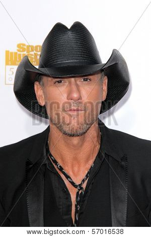 LOS ANGELES - JAN 14:  Tim McGraw at the 50th Anniversary Of Sports Illustrated Swimsuit Issue at Dolby Theater on January 14, 2014 in Los Angeles, CA