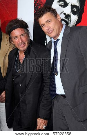 Al Pacino, Steven Bauer at the