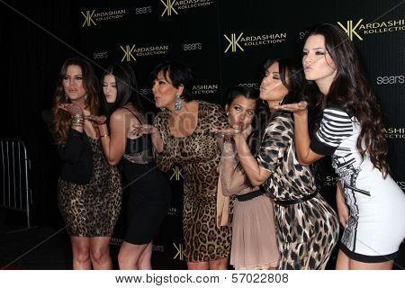 Khloe Kardashian, Kylie Jenner, Kris Jenner, Kourtney Kardashian, Kim Kardashian, Kendall Jenner at the Kardashian Kollection Launch for Sears, The Colony, Hollywood, CA. 08-17-11