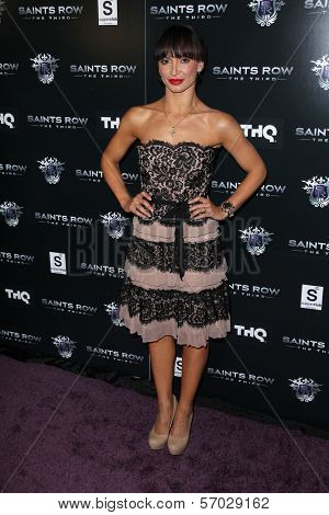 Karina Smirnoff at the Saints Row: The Third Game Pre-Launch Event, Supperclub, Hollywood, CA. 10-12-11