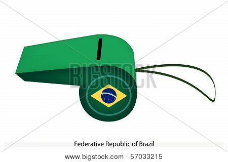 A Green And Yellow Of Brazil Whistle