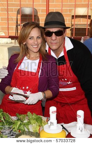 Marlee Matlin and Robert Davi at the Hollywood Chamber Of Commerce 17th Annual Police And Fire BBQ, Private Location, Hollywood, CA 11-30-11