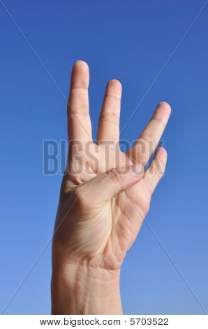 Woman Hand - Four Fingers