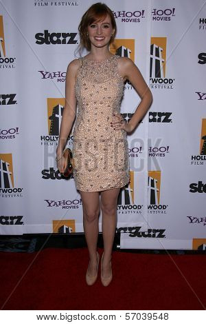 Ahna O'Reilly at the 15th Annual Hollywood Film Awards Gala, Beverly Hilton Hotel, Beverly Hills, CA 10-24-11
