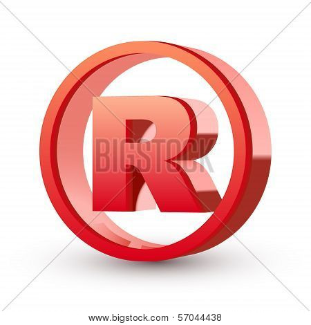 3d Registered Trademark Sign