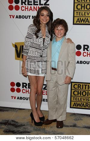 Sarah Hyland and Nolan Gould at the Critics' Choice Television Awards Luncheon, Beverly Hills Hotel, Beverly Hills, CA. 06-20-11