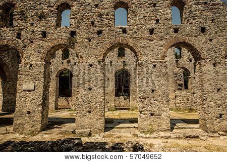 Roman Gate In Butrint, Albania