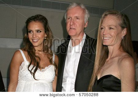 Jessica Alba, James Cameron and wife Suzy Amis at the Covenant House California 2011 Gala and Awards Dinner, Skirball Cultural Center, Los Angeles, CA 06-09-11