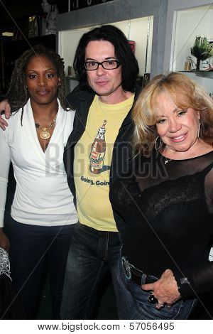 Thela Brown, Cody Jarrett, Kitten Natividad at the Signing Party for