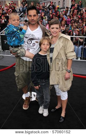 Adrian Pasdar, Natalie Maines and family at the