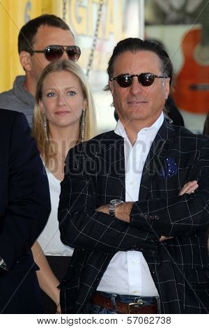 A.J. Cook, Andy Garcia at Joe Mantegna's induction into the Hollywood Walk Of Fame, Hollywood, CA, 04-29-11