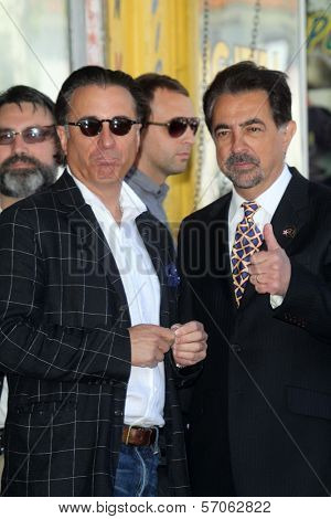 Andy Garcia, Joe Mantegna at Joe Mantegna's induction into the Hollywood Walk Of Fame, Hollywood, CA, 04-29-11