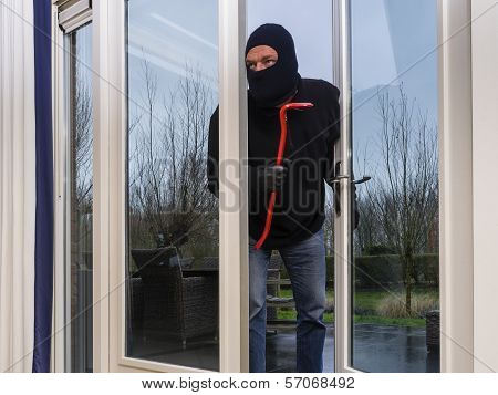 Burglar With A Crowbar