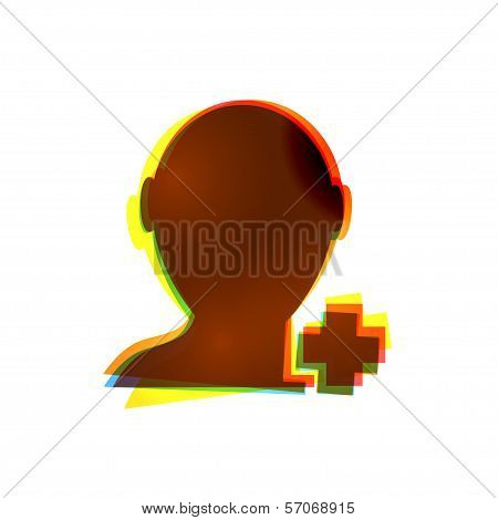 Vector abstract icon on white background. Eps10