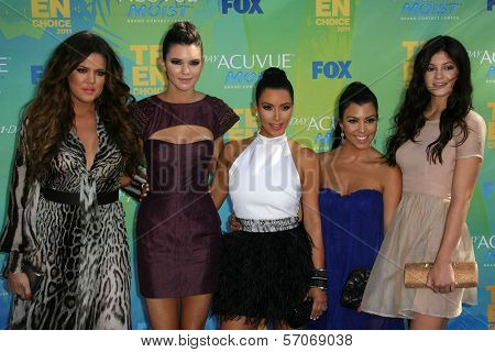 Khloe Kardashian, Kendall Jenner, Kim Kardashian, Kourtney Kardashian, Kylie Jenner at the 2011 Teen Choice Awards, Universal Amphitheater, Universal City, CA. 08-07-11